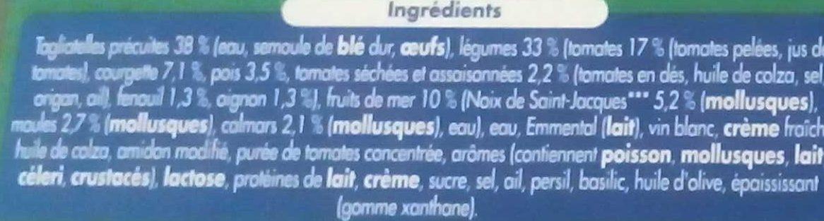 Tagliatelles Saint Jacques et son cocktail de fruits de mer - Ingredients