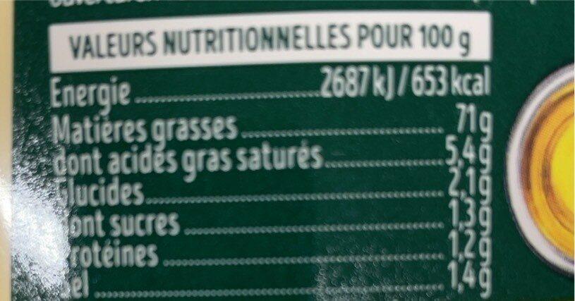 Mayonnaise 1907 - Valori nutrizionali - fr