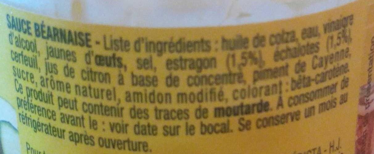 Sauce Béarnaise - Ingredienti - fr