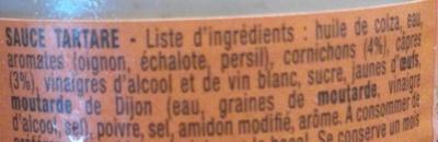 Sauce Tartare - Ingredienti - fr