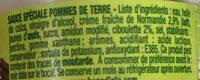 Sauce spéciale Pommes de terre - Ingredienti - fr