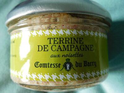 Terrine de campagne aux noisettes - Produit