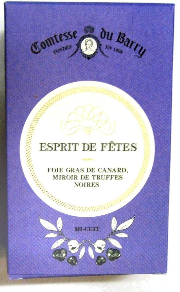 Foie gras de canard, miroir de truffes noires, mi-cuit - Produit - fr
