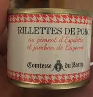 Rillette de porc au piment d'espelette et jambon de bayonne - Produit - fr