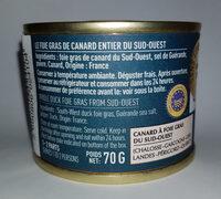 foie gras entier du Sud Ouest - Produit - fr