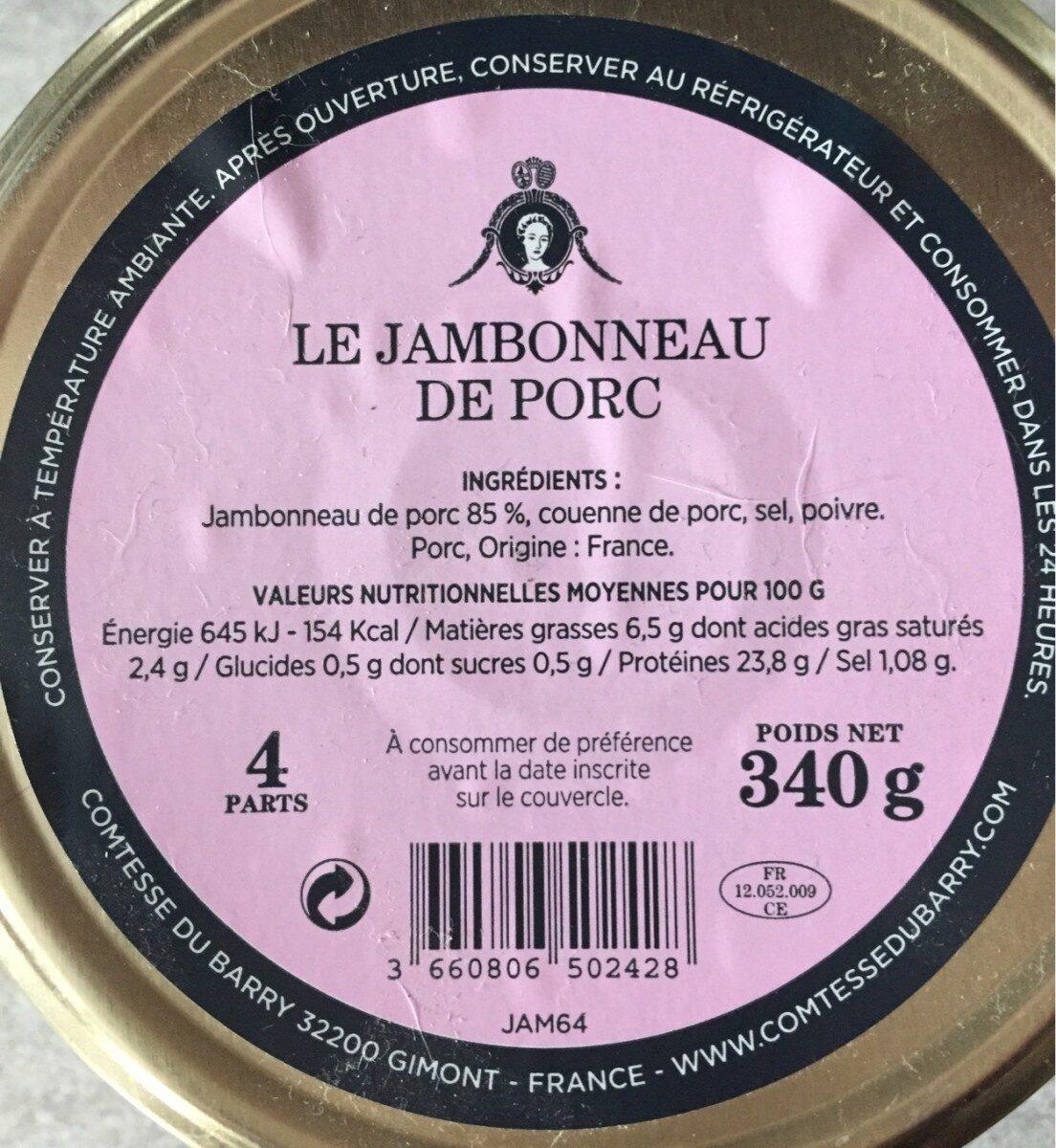Jambonneau de porc - Produit - fr