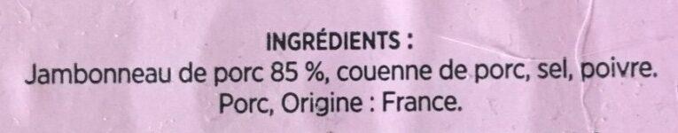 Jambonneau de porc - Ingrédients - fr