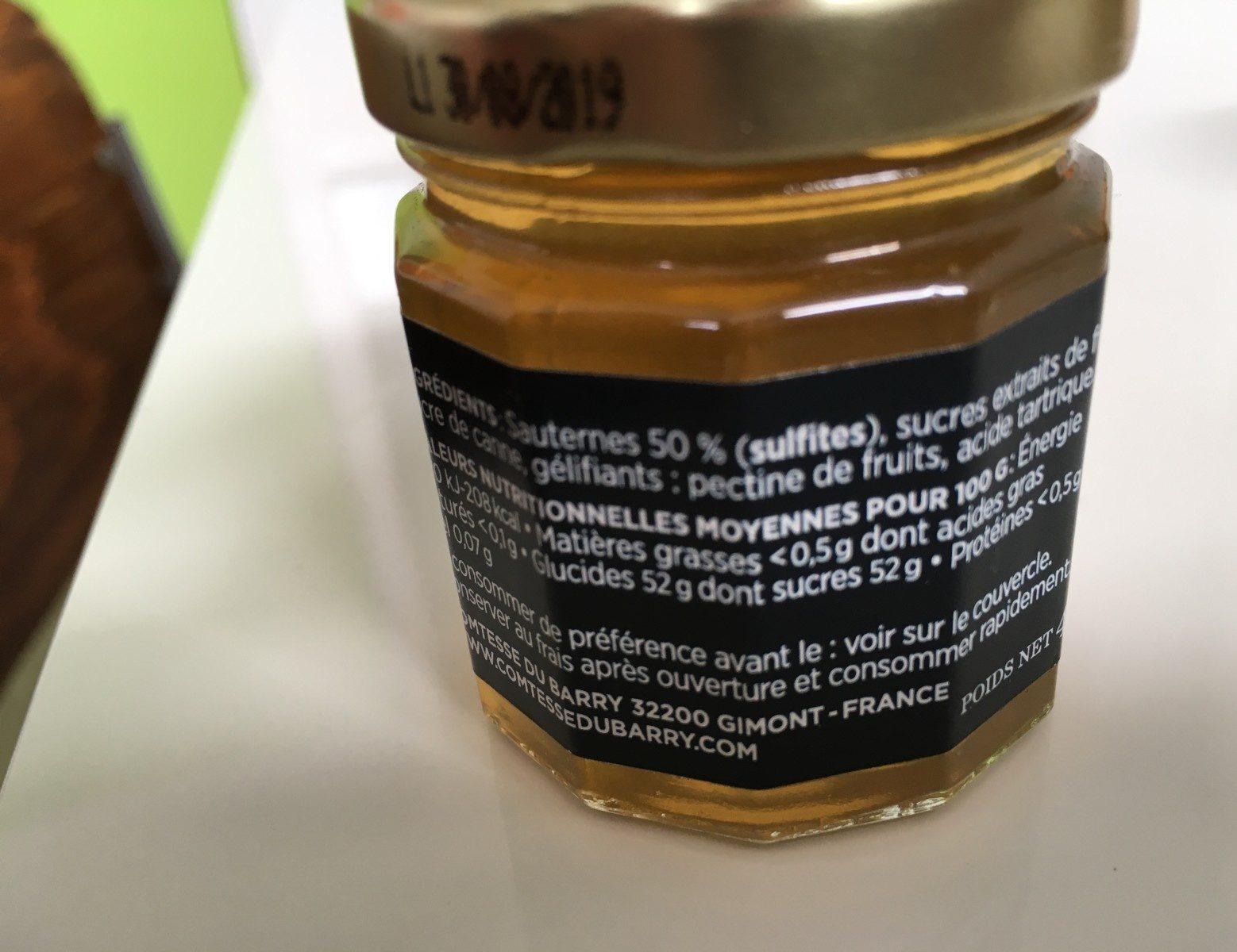 Confit de Sauternes - Ingrediënten
