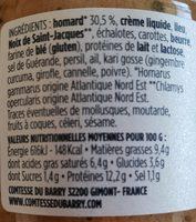 Rillettes de homard 100G - Nutrition facts