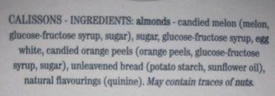 Petits calissons - Ingredients