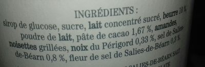 Assortiment de caramels - Ingrediënten
