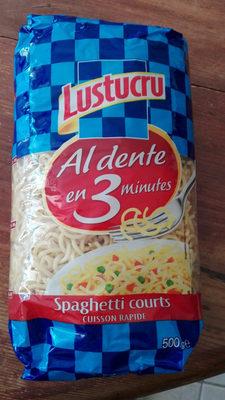 500G Spaghetti Court Cuisson Rapide Lustucru - Produit