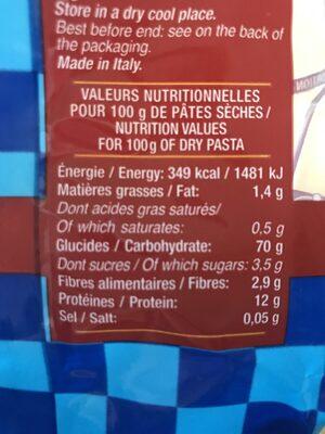 500GR PCR Torsette Tri Lustucr - Ingredients
