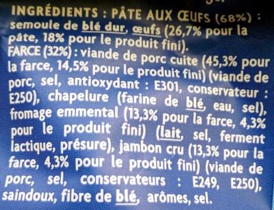 Ravioles Jambon Cru & Parmesan - Ingrediënten