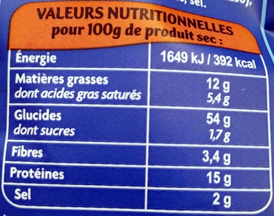 Ravioles Jambon Cru & Parmesan - Voedigswaarden