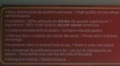 "Linguine ""Comme un chef!"" - Ingrediënten - fr"