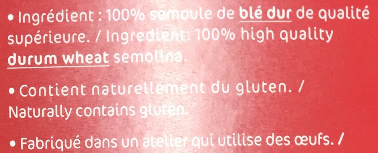 Rigatoni, Comme un Chef ! - Ingrédients