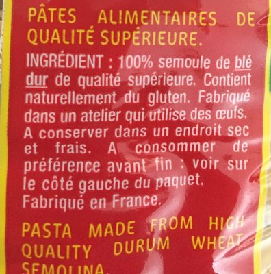 Collerettes - Ingrediënten