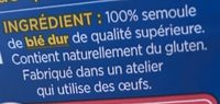 Conchiglie - Ingrédients - fr