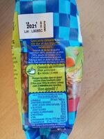 Coquillettes Délice aux légumes Tomates et carottes - Informations nutritionnelles