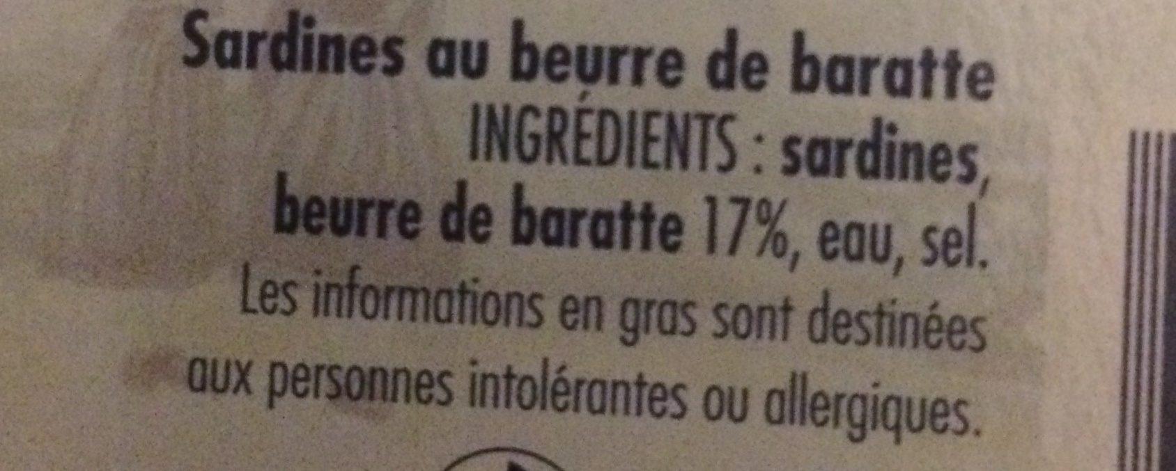 Sardine a poeler - Ingredients