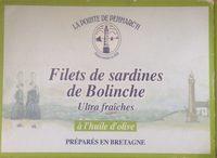 Sardines de bolinche - Informations nutritionnelles