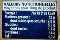 Filets de Sardines sauce escabèche - Nutrition facts - fr