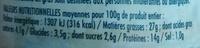 Emietté de thon blanc et confiterelles (Tomates séchées) - Informations nutritionnelles