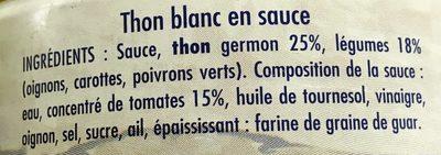 Thon Blanc Germon à la Catalane - Ingrédients - fr