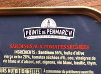 Sardines à l'ancienne & confiterelles (tomates séchées) - Ingrédients - fr