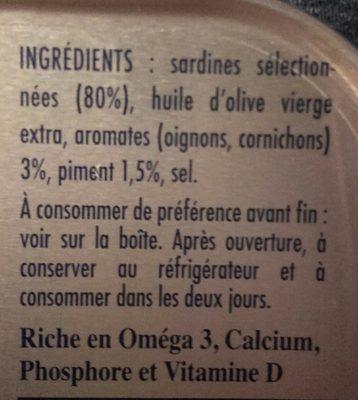 Sardines à l'ancienne - Ingredientes