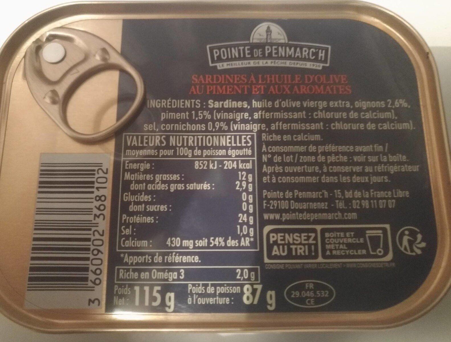 Sardines à l'ancienne - Informations nutritionnelles - fr
