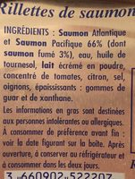 Rilette de saumon Recette Bretonne - Ingredients