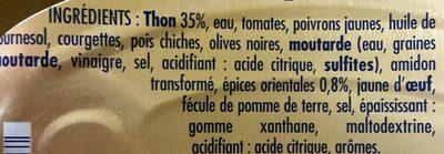 Thon à tartiner aux épices orientales - Ingrédients - fr