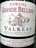 Valréas Côtes du Rhône Villages AOC 2012 Bio Domaine Grande Bellane - Product