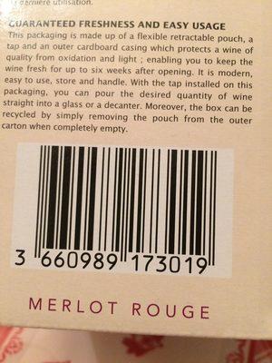 Merlot rouge - Produit