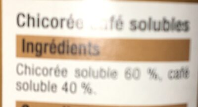 Chicorée Et Café Soluble Bien Vu, - Ingrédients - fr