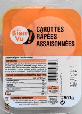 Carottes Râpées Assaisonnées - Produit - fr