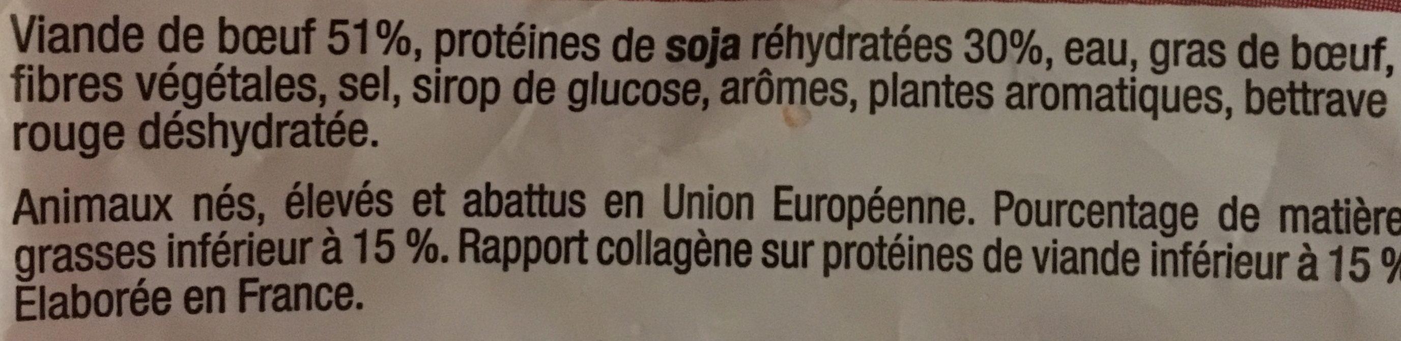 Boulette Abd Boeuf B.vu 30X30G - Ingrédients - fr
