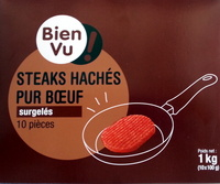 Steaks hachés pur boeuf - Product - fr