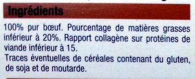 Steaks hachés pur boeuf - Ingrediënten - fr