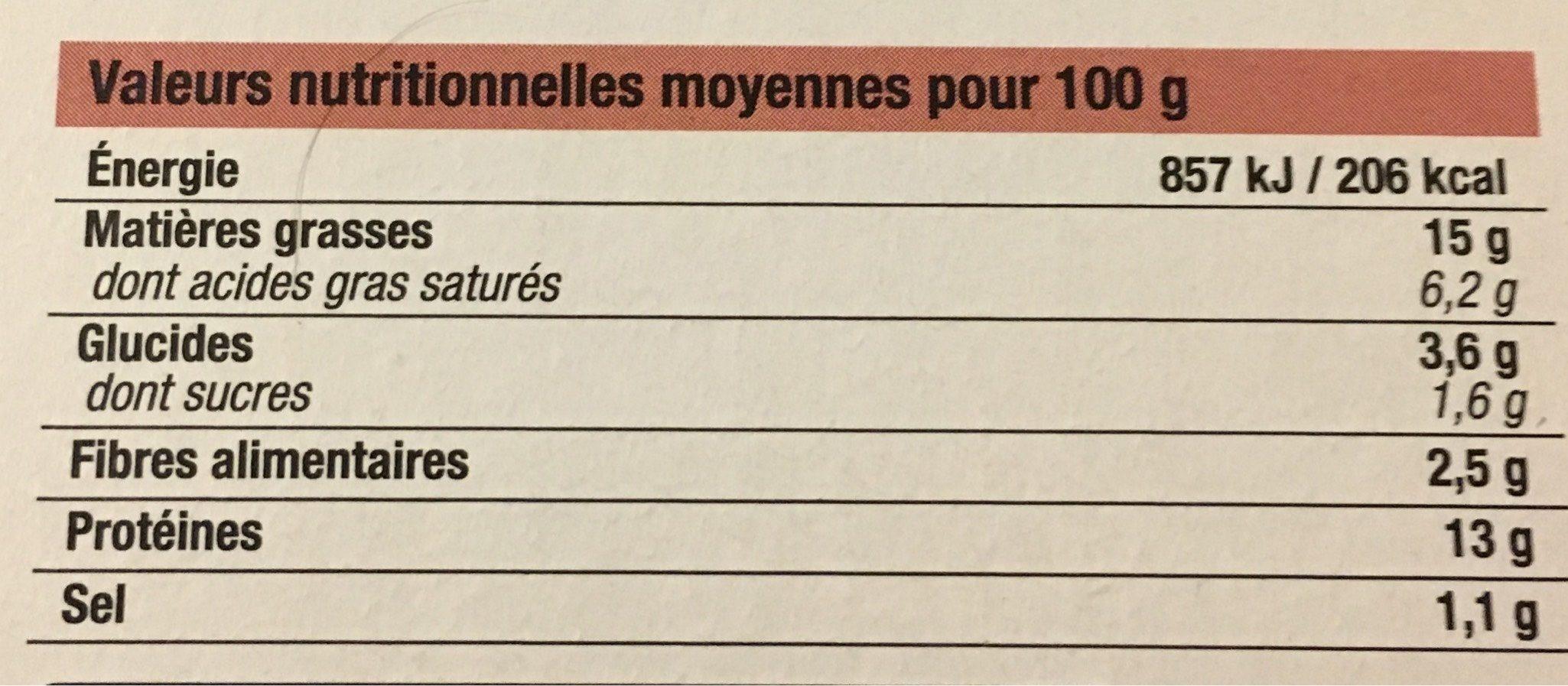 Burgers Surgelés 10 Pieces - Informations nutritionnelles - fr