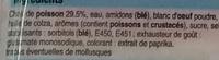 Bâtonnets saveur Crabe - Ingrédients - fr