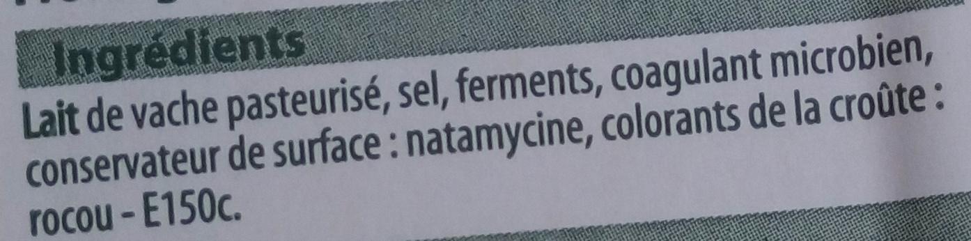 Raclette en tranches - Ingrédients