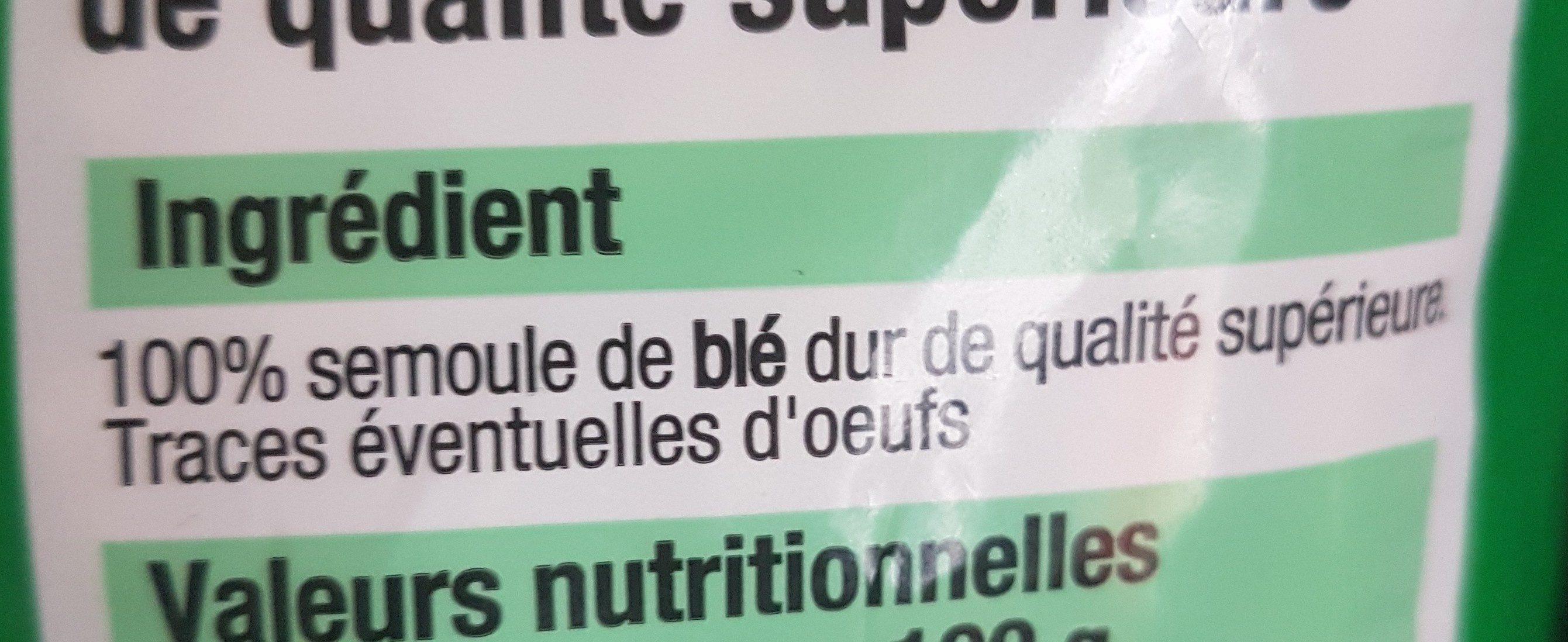 Macaroni Bien Vu, - Ingrédients - fr