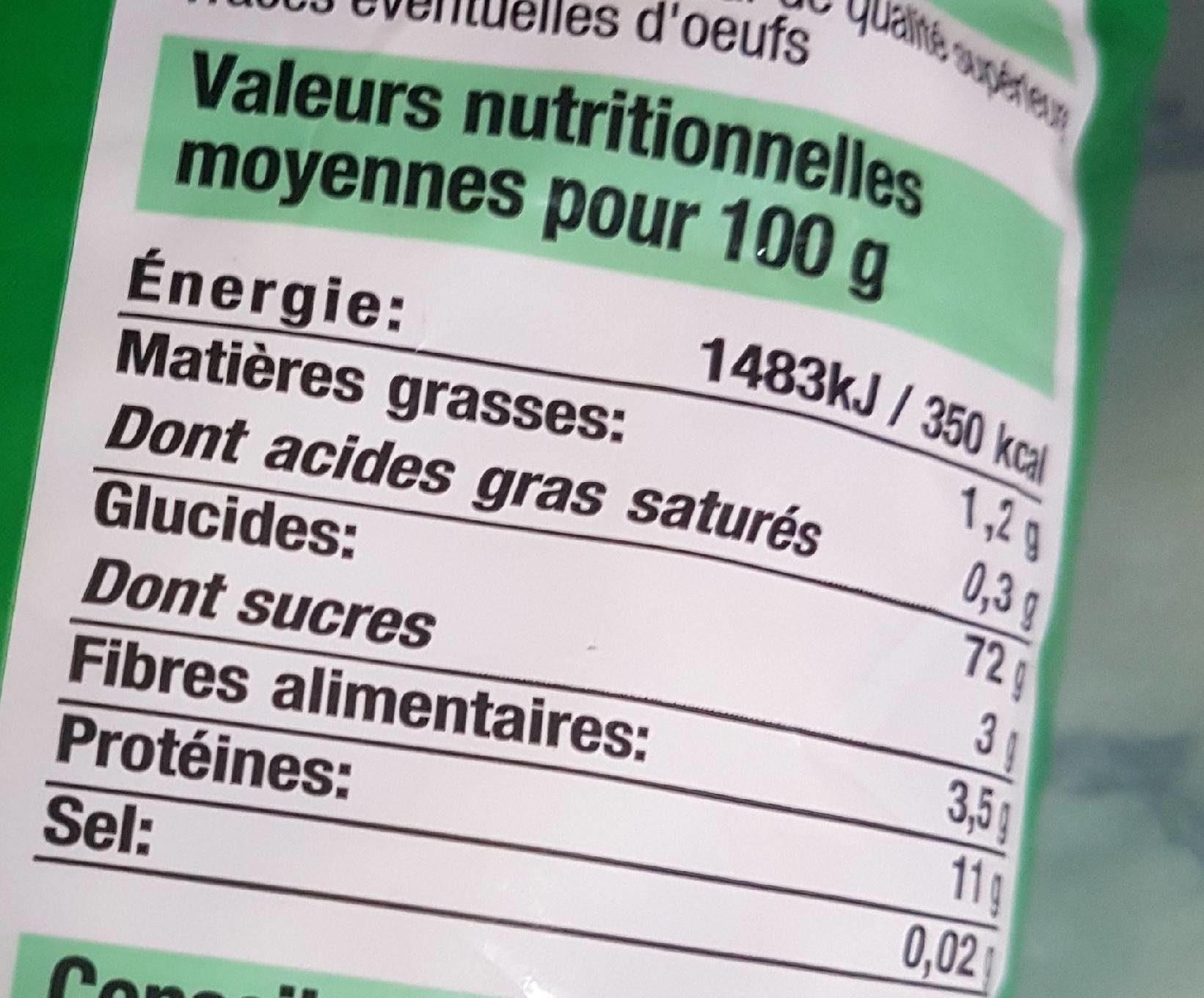 Macaroni Bien Vu, - Informations nutritionnelles - fr