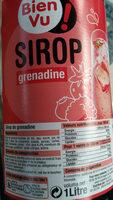 Sirop De Grenadine Bien Vu, - Produit - fr