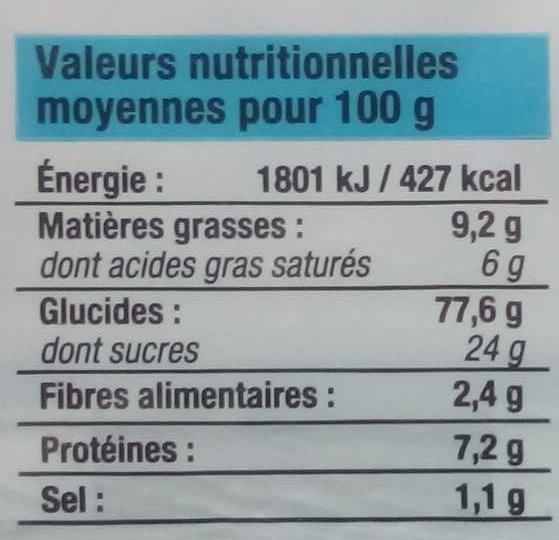Petit Beurre (lot de 2 paquets) - Voedingswaarden