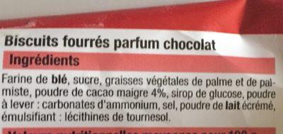 Fourrés rond parfum chocolat - Ingrédients