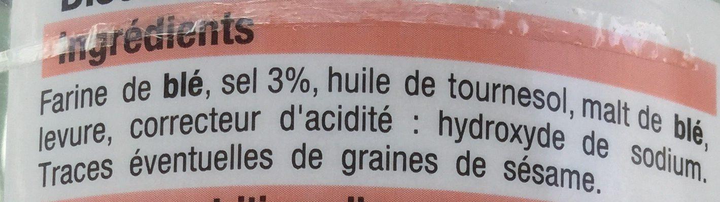 Sticks et bretzels d'Alsace - Ingrédients - fr